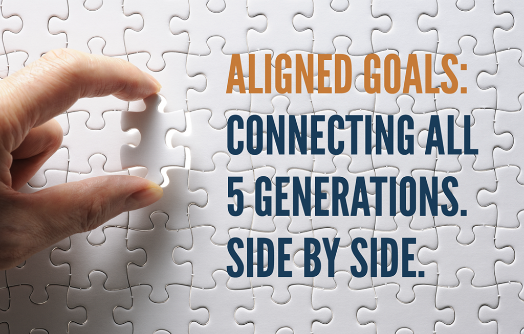 Aligned Goals: Connecting all 5 Generations. Side by Side.