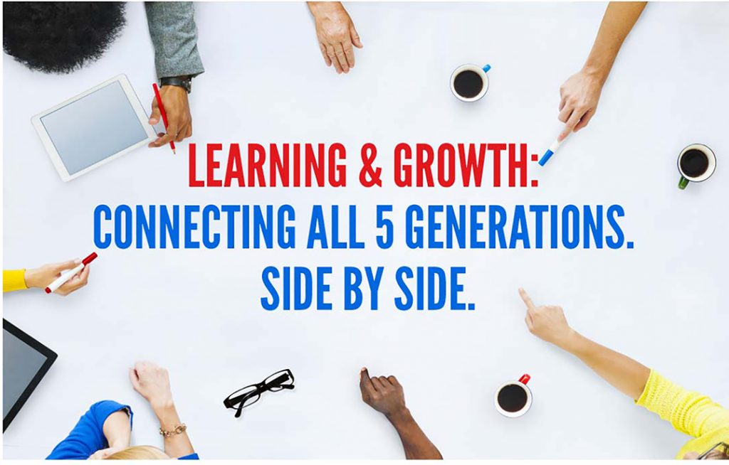 Learning & Growth: Connecting all 5 Generations. Side By Side.