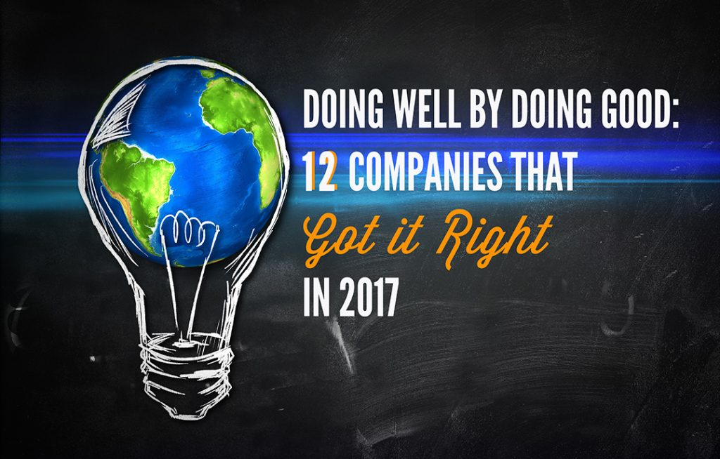 Doing Well by Doing Good: 12 Companies that Got it Right in 2017